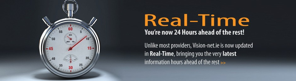 Real-Time. You're now 24 Hours ahead of the rest!